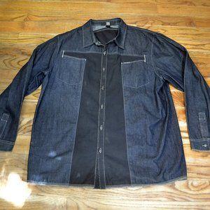 MARITHE GIRBAUD Jean Jacket Shirt Bliue Denim XL
